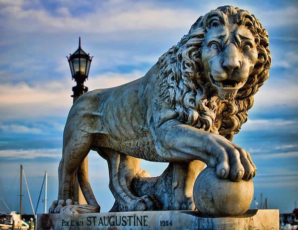 Lion Statue Photograph - Hear Me Roar by Joetta West