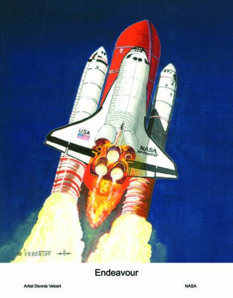 Space Shuttle Painting - Hear The Rumble Feel The Heat by Dennis Vebert