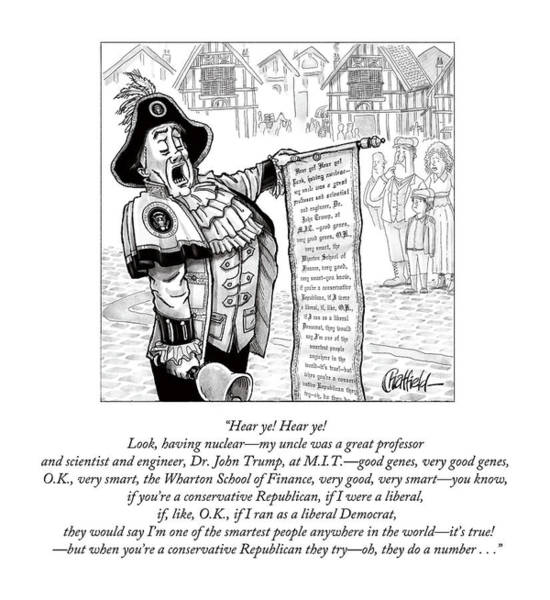 Town Drawing - Hear Ye Hear Ye by Jason Chatfield and Scott Dooley