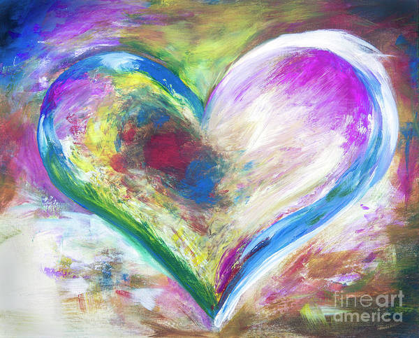 Wall Art - Painting - Heart Abstract  by Iris Richardson