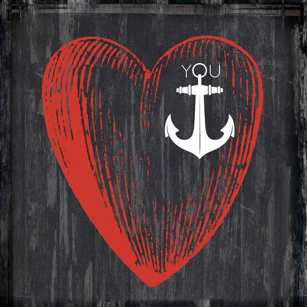 Wall Art - Digital Art - Heart Anchor by Brandi Fitzgerald
