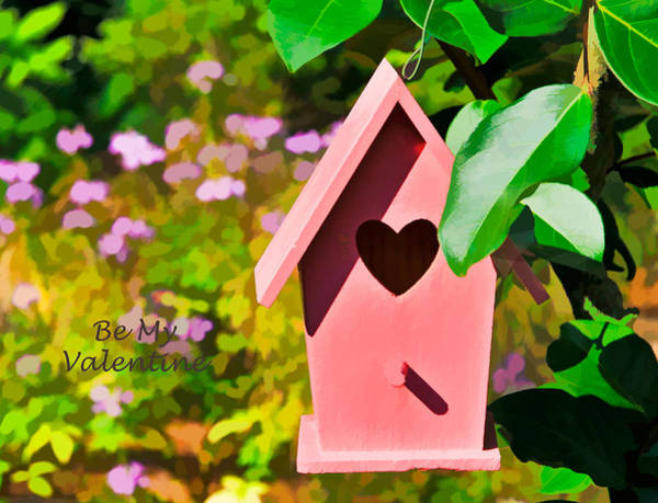 Photograph - Heart Birdhouse Valentine Card by Ginger Wakem