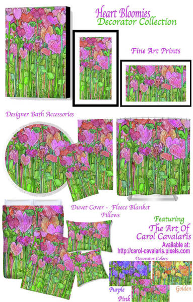 Mixed Media - Heart Bloomies Decorator Collection by Carol Cavalaris