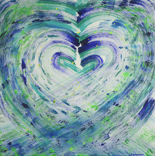 Painting - Heart Centered Peace And Love by Angela Bushman