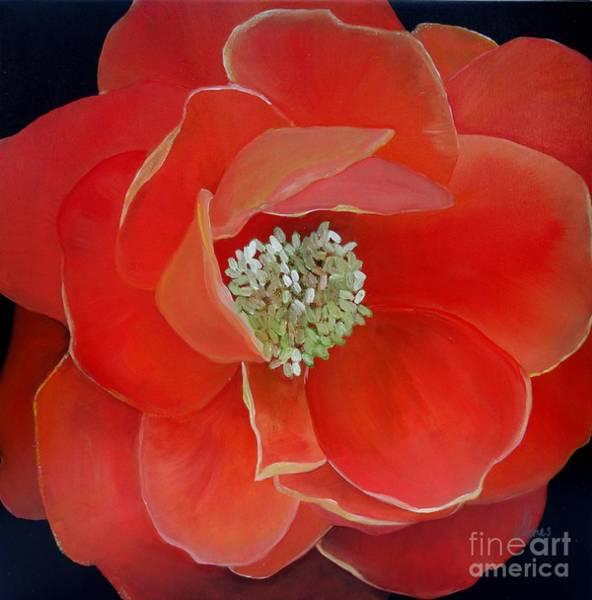 Painting - Heart-centered Rose by Karen Jane Jones