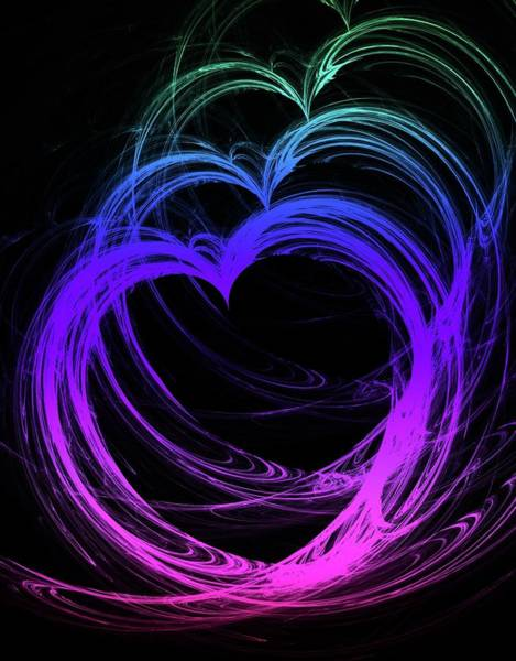 Digital Art - Heart Colors by Angie Tirado