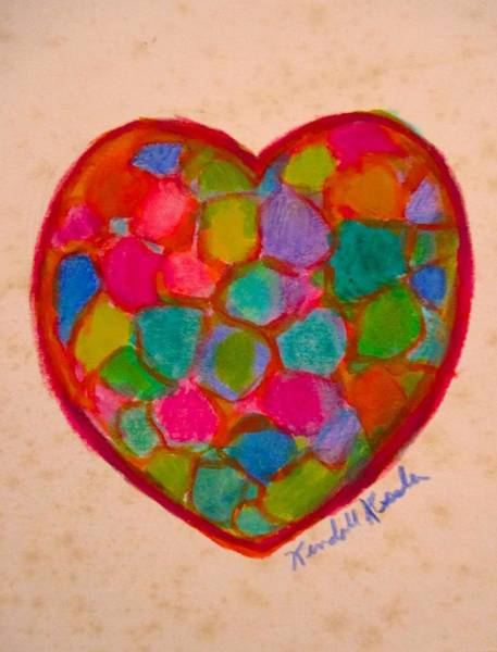 Painting - Heart Compartments by Kendall Kessler