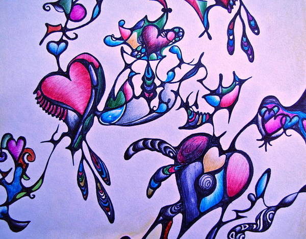 Heart Connections Art Print