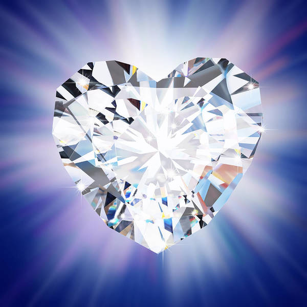 Sparkle Wall Art - Photograph - Heart Diamond by Setsiri Silapasuwanchai
