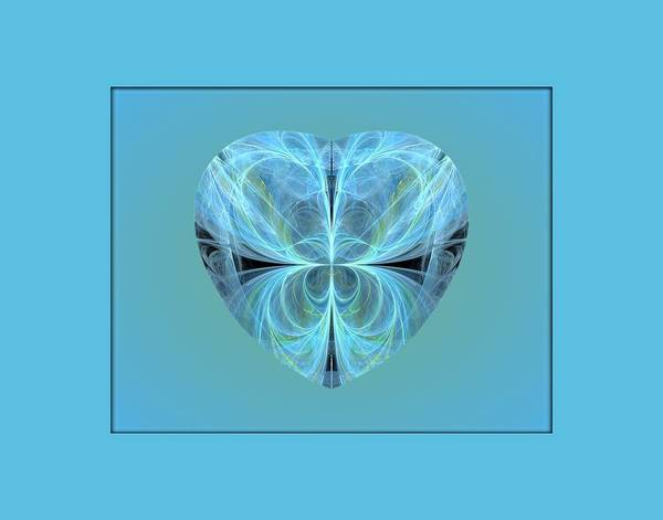 Digital Art - Heart - Ghost Blue by Angie Tirado