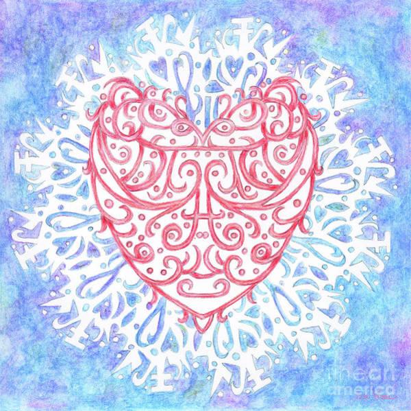 Heart In A Snowflake II Art Print