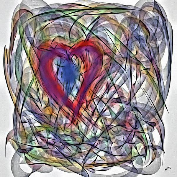 Painting - Heart In Motion Abstract by Marian Palucci-Lonzetta
