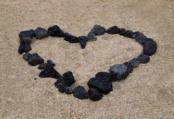 Photograph - Heart In The Sand by Pamela Walton