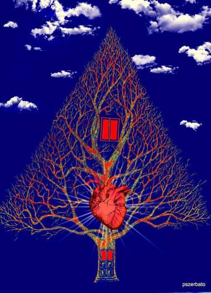 Essence Digital Art - Heart Is The Abode Of The Spirit by Paulo Zerbato