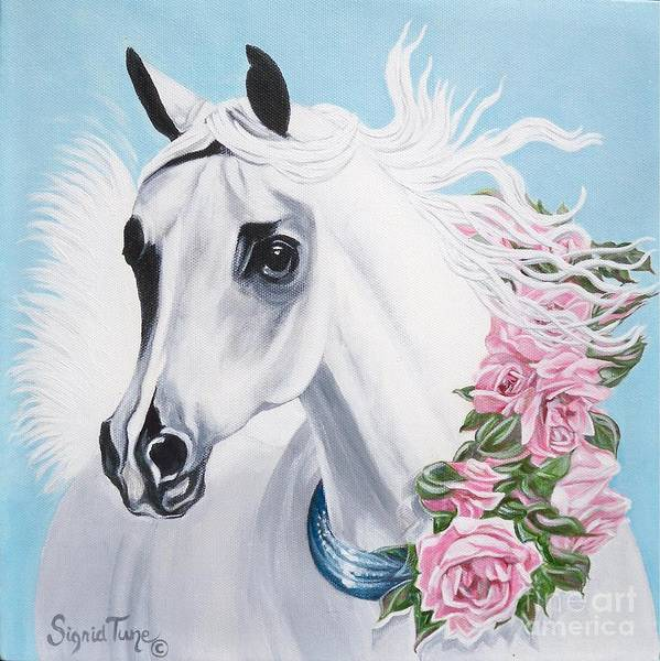 Painting -    The Arabian Heart Is Like A Rose by Sigrid Tune