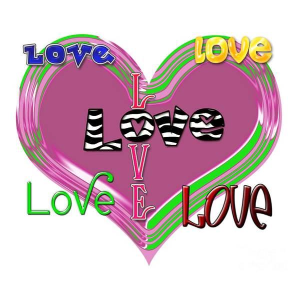 Digital Art - Heart Love by Diana Raquel Sainz