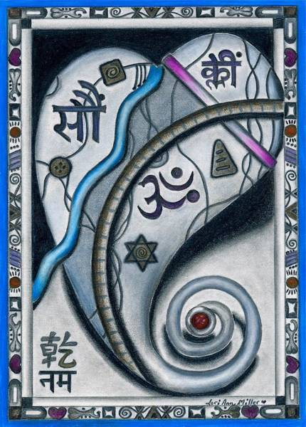 Heart Movement Towards The Divine Art Print
