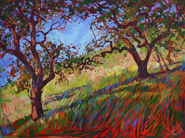 Wine Country Painting - Heart Oaks by Erin Hanson