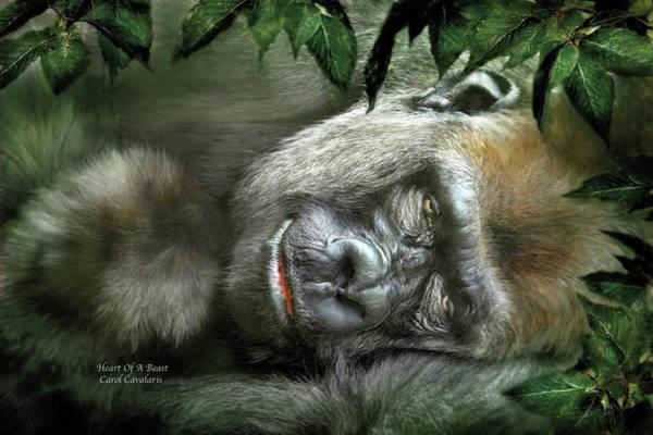 Mixed Media - Heart Of A Beast by Carol Cavalaris