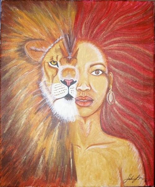 Merge Painting - Heart Of A Lion by Sabrina Solomon