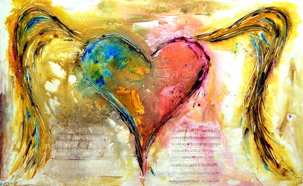 Wall Art - Mixed Media - Heart Of A Lover by Ivan Guaderrama