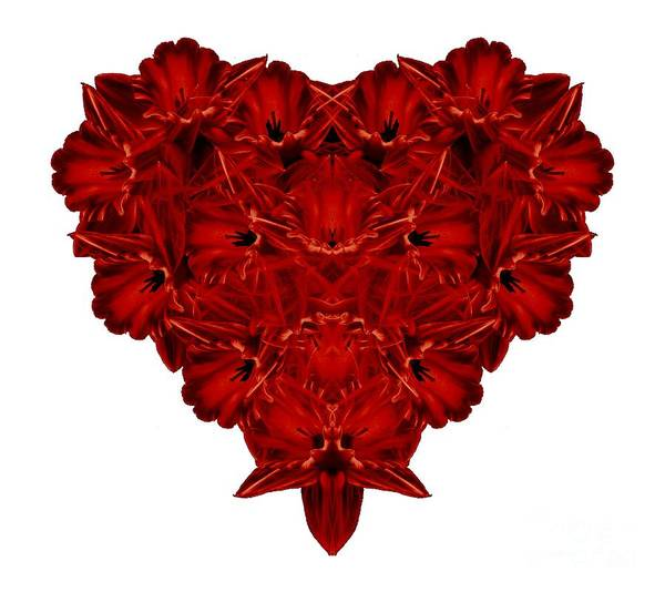 Sweatshirt Wall Art - Photograph - Heart Of Flowers T-shirt by Edward Fielding