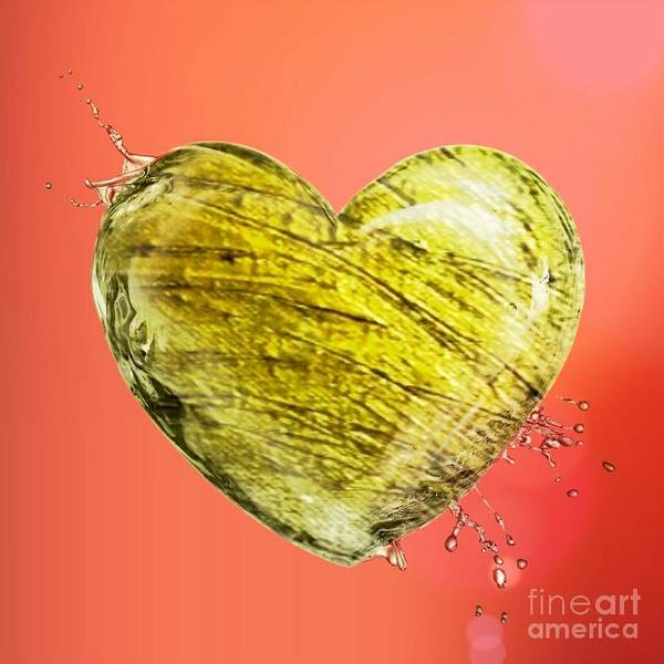 Mixed Media - Heart Of Gold by Rachel Hannah