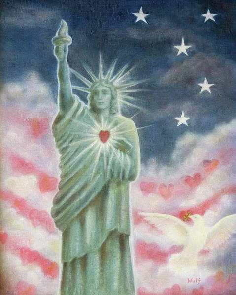Painting - Heart Of Liberty by Bernadette Wulf