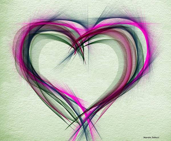 Digital Art - Heart Of Many Colors by Marian Palucci-Lonzetta