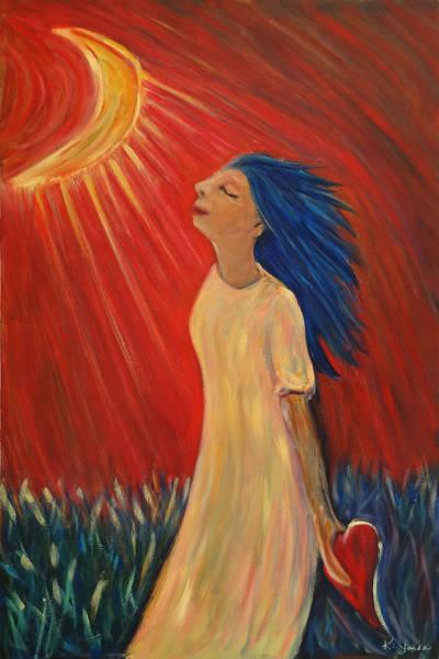 Painting - Heart Of Moonshine by Katt Yanda