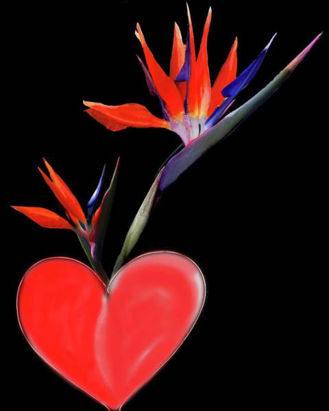 Art Print featuring the digital art Heart  Of Paradise by Teresa Epps