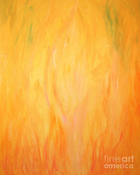 Painting - Heart Of The Flame Painting by Kristen Fox