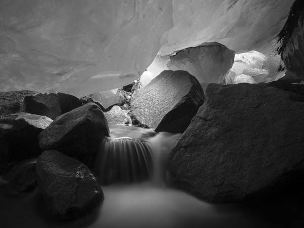 Photograph - Heart Of The Glacier Black And White by Ian Johnson