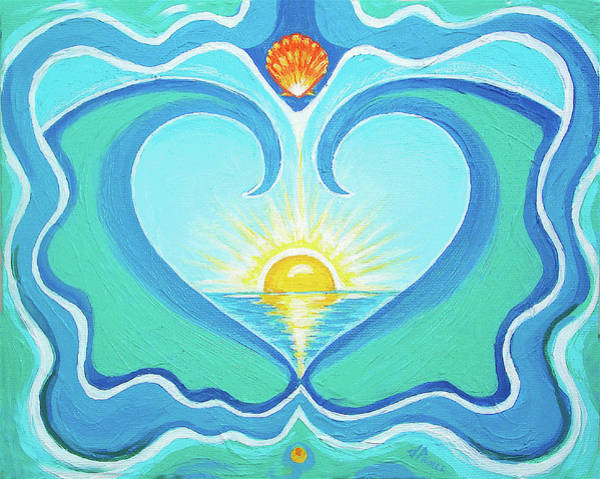 Wall Art - Painting - Heart Of The Sea by Jenifer Prince