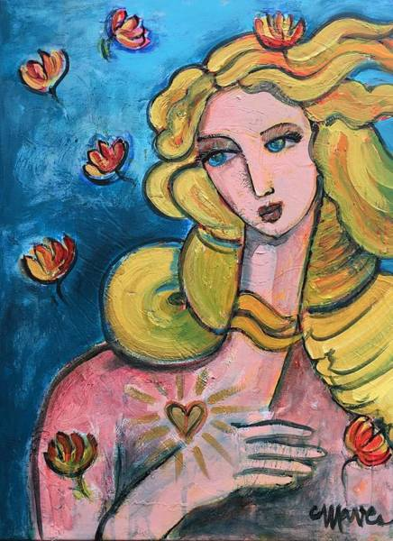 Painting - Heart Of Venus by Laurie Maves ART