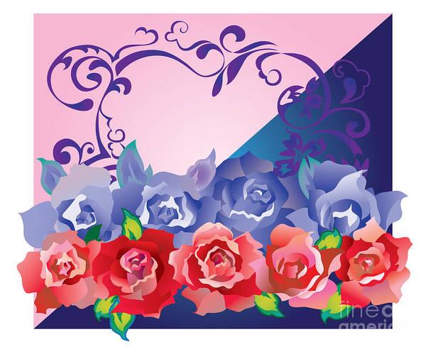 Digital Art - Heart Post Card by Ariadna De Raadt