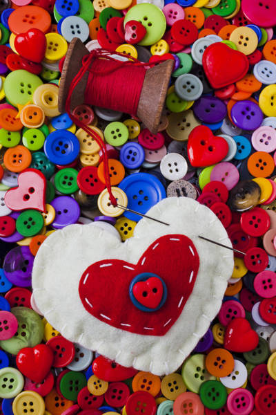 Wall Art - Photograph - Heart Pushpin Chusion  by Garry Gay