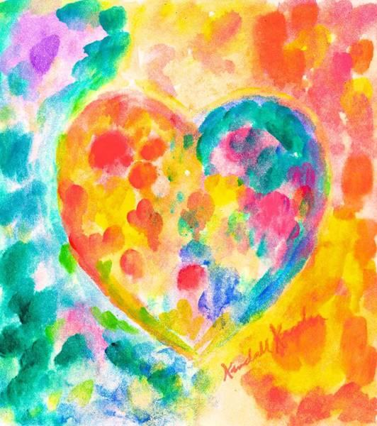 Painting - Heart Rainbow by Kendall Kessler