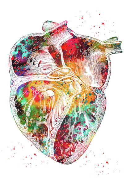 Wall Art - Digital Art - Heart Section 4 by Erzebet S