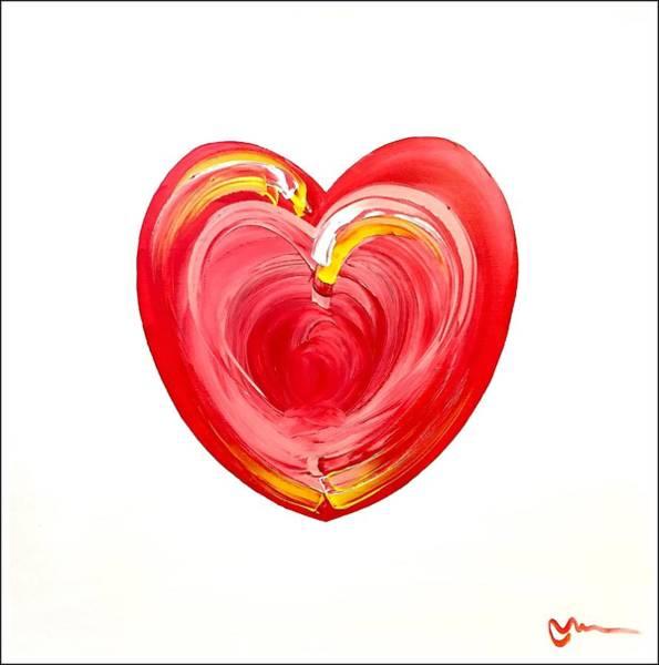 Wall Art - Painting - Heart Series 37 by Mac Worthington