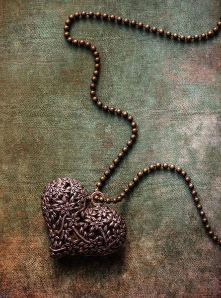 Photograph - Heart Shaped Pendant by Jaroslaw Blaminsky