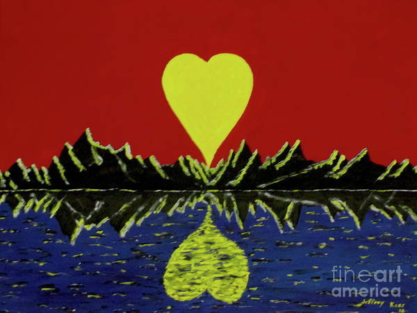 Wall Art - Painting - Heart Shaped Sunset by Jeffrey Koss
