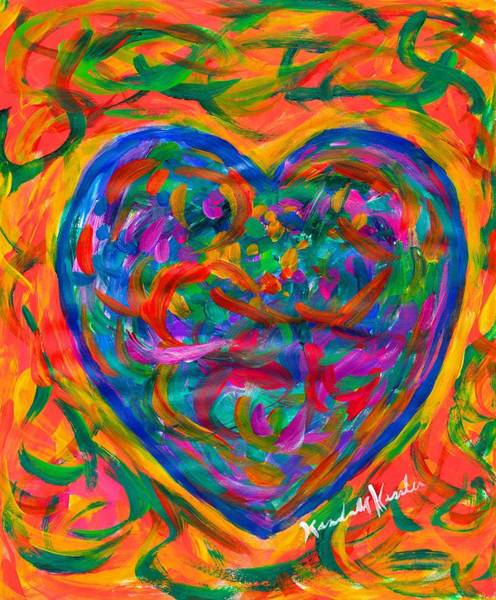Painting - Heart Squiggle by Kendall Kessler