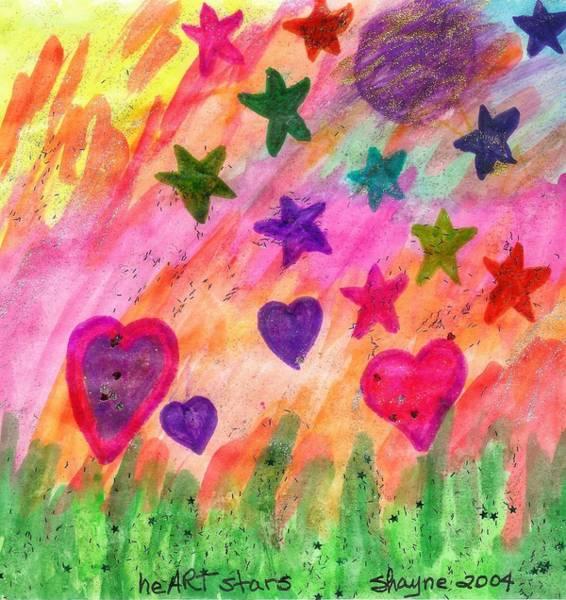 Painting - heART Stars 1 by Susan Schanerman