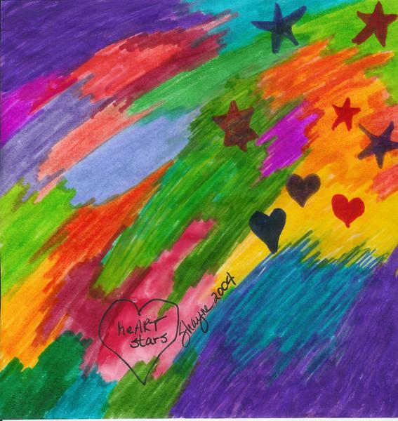 Painting - heART Stars 3 by Susan Schanerman