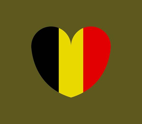 Illustration Digital Art - Heart With Belgium Flag by Marco Livolsi