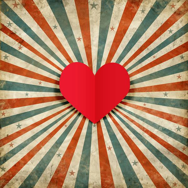 Valentine Wall Art - Photograph - Heart With Ray Background by Setsiri Silapasuwanchai