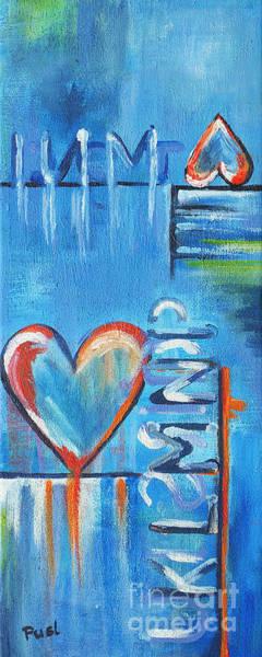 Wall Art - Painting - Heartache by Jutta Maria Pusl