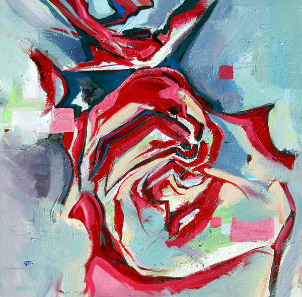 Painting - Heartfelt Rose by John Jr Gholson