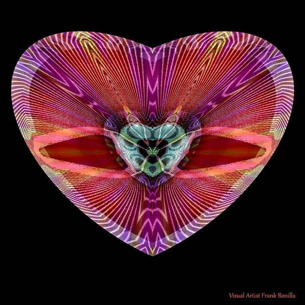 Digital Art - Hearts #11 by Visual Artist Frank Bonilla